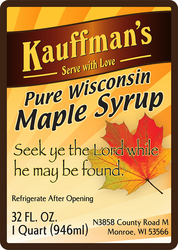 Maple Syrup Labels Quality Labels For Producers Of All Sizes